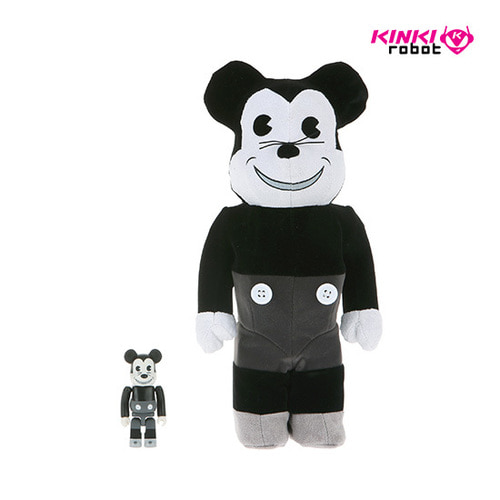 400%+100%BEARBRICK MICKEY MOUSE VINTAGE B&W VER