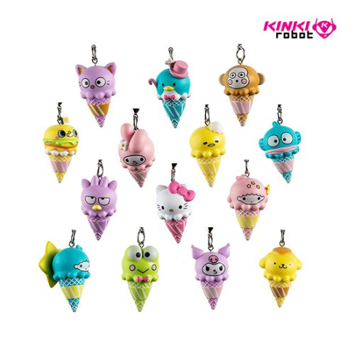 HELLO SANRIO ICECREAM CONE KEYCHAINS SERIES (단품)