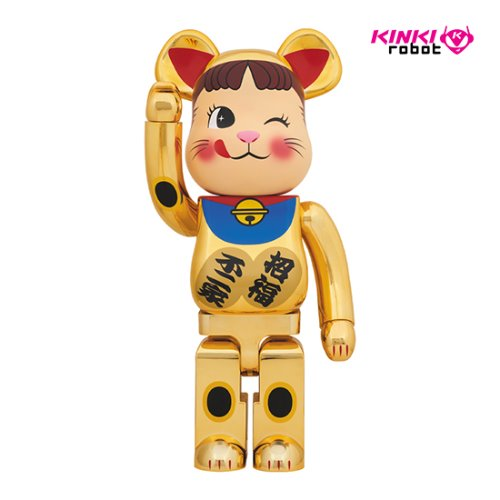 1000%BEARBRICK MANEKINEKO PEKO GOLD PLATED 2