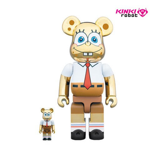 400%+100%, 1000%BEARBRICK SPONGE BOB GOLD CHROME (프리오더)