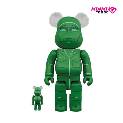 400%&100%BEARBRICK GREEN ARMY MEN(프리오더)