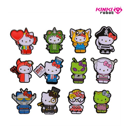HELLO KITTY TIME TO SHINE ENAMEL PINS (단품)