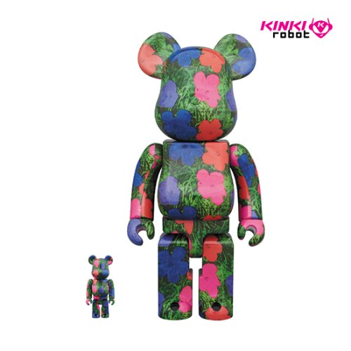 400%&100%, 1000%BEARBRICK ANDY WARHOL FLOWERS(프리오더)