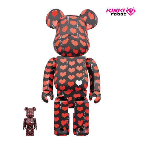 400%+100%BEARBRICK BLACK HEART (프리오더)