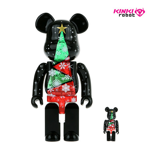 400%+100%BEARBRICK Stained-glass Tree