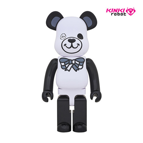 1000%BEARBRICK FREEMASONRY X FRAGMENTDESIGN  WHITE