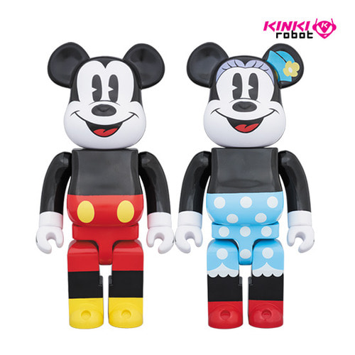 1000%BEARBRICK MICKEY MOUSE, MINNIE MOUSE
