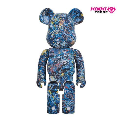 1000%BEARBRICK JACKSON POLLOCK WATER PRINT VERSION (MPL)