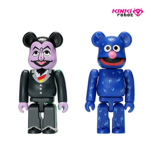 100%BEARBRICK COUNT VON COUNT & GROVER 2PACK