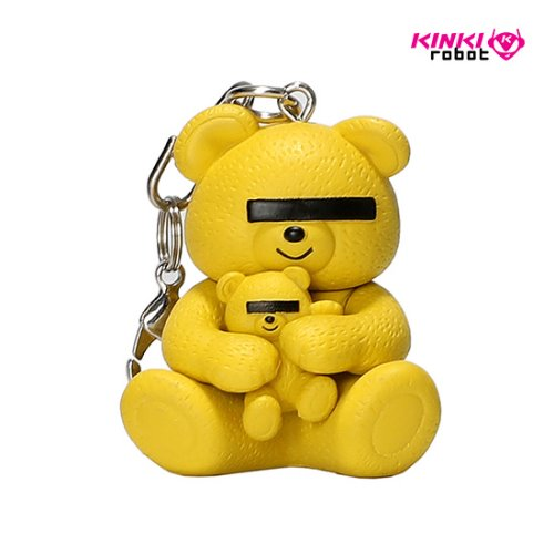 UNDERCOVER BEAR KEYCAHIN (YELLOW)